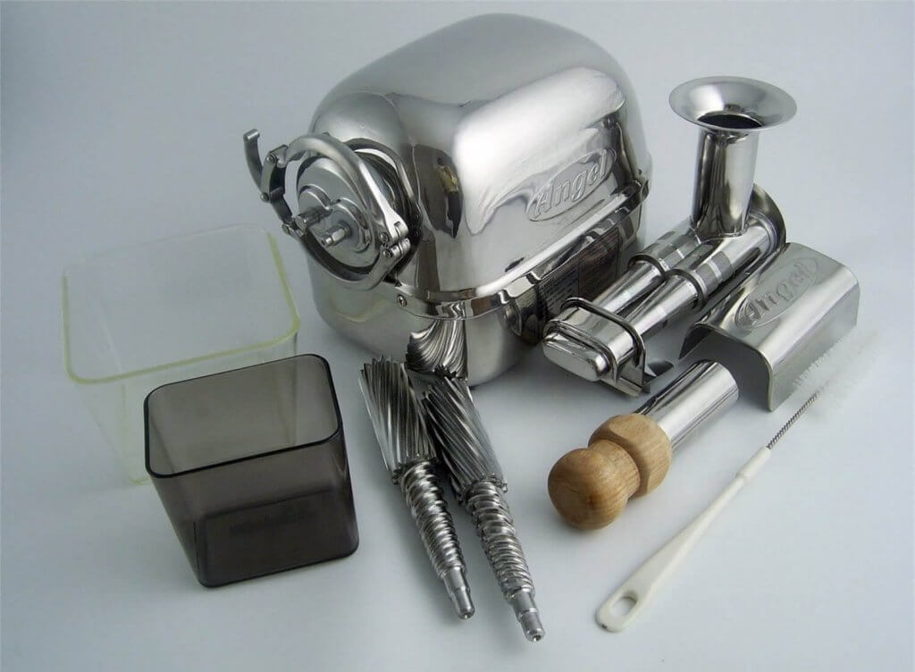 Super Angel All Stainless Steel Twin Gear Juicer - 5500 Parts