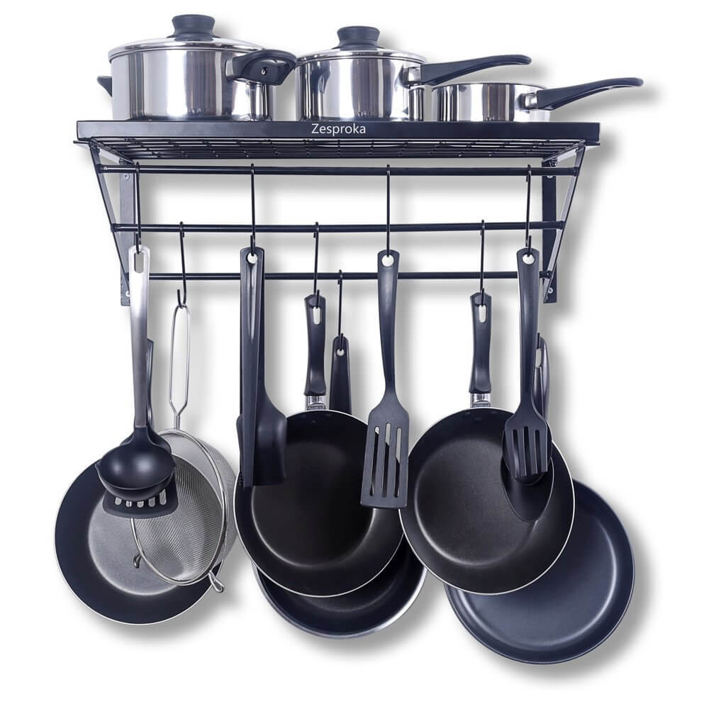 ZESPROKA Kitchen Wall Pot Pan Rack
